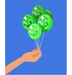 Hand holds profit money vector