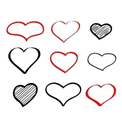 Abstract hand-drawn doodle heart vector image vector image