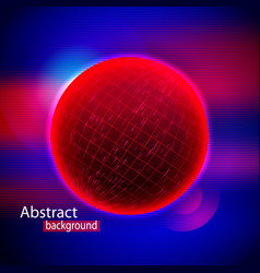 abstract sphere shape of glowing circles and vector image vector image