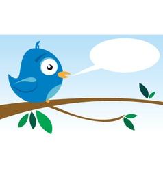 bird on branch vector image