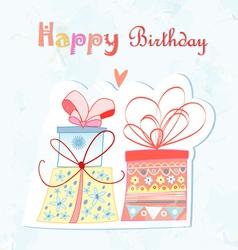 birthday present vector image vector image
