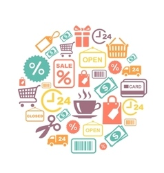 card with shopping supermarket services vector image vector image