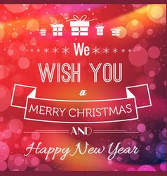 christmas greeting poster vector image