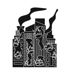 City single icon in black stylecity vector