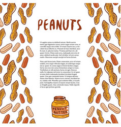 Cute peanuts template sketched nuts hand drawn vector
