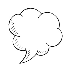 Doodle style speech bubble hand drawn vector image vector image
