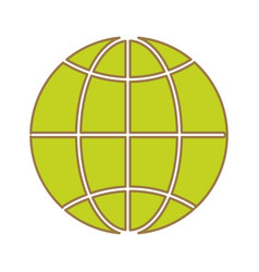 Global symbol to earth planet vector