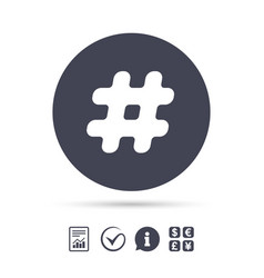 Hashtag sign icon social media symbol vector