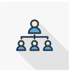 hierarchy thin line flat color icon vector image vector image
