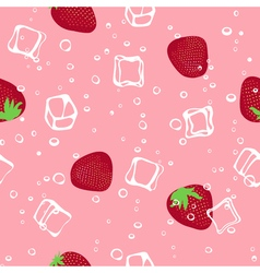 Ice and strawberry pink seamless pattern vector