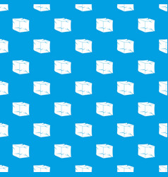 ice pattern seamless blue vector image vector image