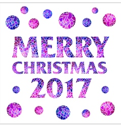 Merry christmas 2017 with mosaic balls vector