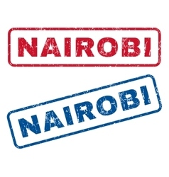 Nairobi Rubber Stamps vector image vector image
