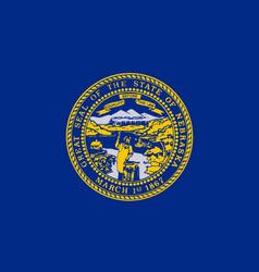 nebraska state flag vector image vector image