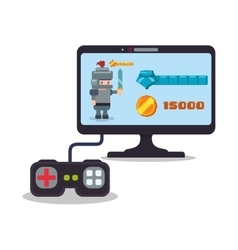 Online game computer controller score knight play vector