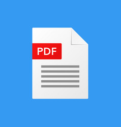 pdf document pdf file format vector image vector image