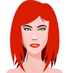 Redhead Girl vector image vector image