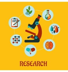 Research flat infographic vector image vector image