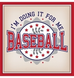 Retro baseball badge vector