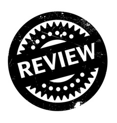 Review rubber stamp vector