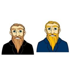 Senior man with beard vector image