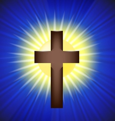 Shining Cross Background vector image vector image