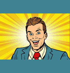 smiling businessman business people vector image