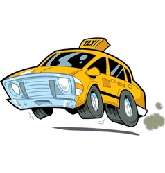 Speeding taxi vector