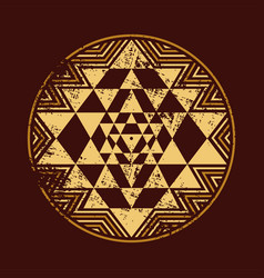 Sri yantra symbol vector