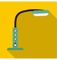 Table lamp with control panel icon flat style vector