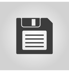 The floppy disk icon Diskette symbol Flat vector image