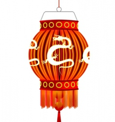 traditional chinese lantern vector image