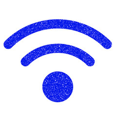 Wi-fi grunge icon vector