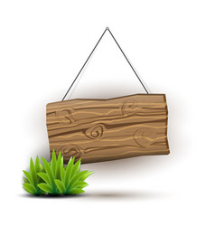 Wooden sign concept vector