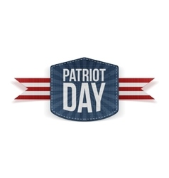 Patriot day realistic banner with ribbon vector