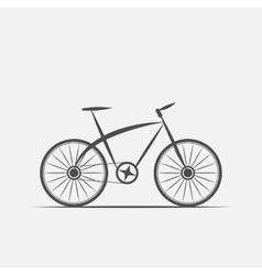 Bike in grayscale vector