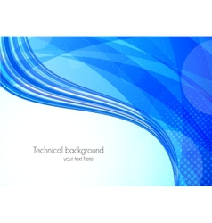 Abstract tech blue background vector image