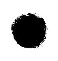 Grunge background circle black vector image