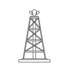 Oil extraction icon image vector