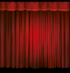 Spotlight on a red stage curtain vector