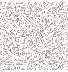 Flying feathers seamless pattern vector