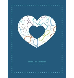 Colorful glasses heart symbol frame pattern vector