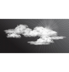 Transparent white clouds vector