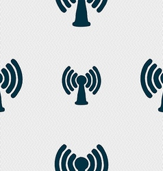 Wi-fi internet icon sign seamless pattern with vector