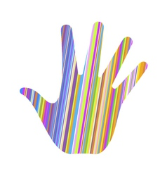 hand stripes vector image