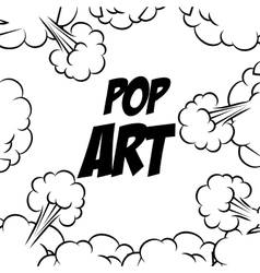 Comic pop art bubble vector