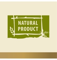 Natural product sketch logo the growth of plants vector