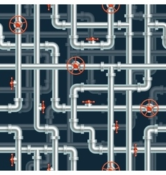 Water pipeline seamless pattern vector