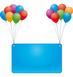 celebrate balloons and banner vector image
