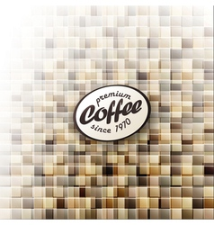 Coffee themed abstract design template vector
